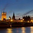 Houses of Parliament at twilight — Stock Photo #10224212