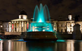 Green fountain at Trafalgar Square — Stock Photo