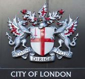 Sign of the city of London — Stock Photo