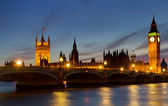 Houses of Parliament at twilight — Stock Photo