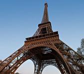 Torre a eiffel - gran angular — Foto de Stock