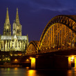 Cityscape of Cologne at twilight — Stock Photo