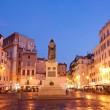 Blue hour Campo dei Fiori, Rome — Stock Photo