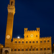 Palazzo Pubblico at the blue hour — Stock Photo