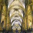 Stock Photo: Nave of gothic cathedral, Barcelona