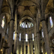 Nave of Santa Maria del Mar — Stock Photo