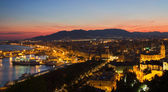 Cityscape of Malaga at Sunset — Stock Photo