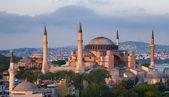 Famous Hagia Sophia in the late evening sun — Stock fotografie