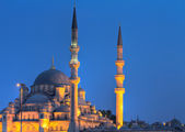 Yeni Valide Camii during the blue hour — Stock Photo