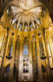 Chorus of Barcelona Cathedral — Stock Photo