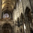 Nave of St. Lawrence, Nuremberg, Germany — Stock Photo