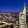 Illuminated cityscape of Frankfurt — Stock Photo
