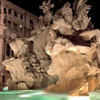 Fountain of the Four Rivers at night, Piazza Navona — Stock Photo