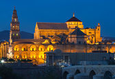 CathedralÐMosque of Cordoba at the blue hour — Stock Photo
