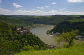 Panorama of the Rhine Valley near the Loreley — Stock Photo
