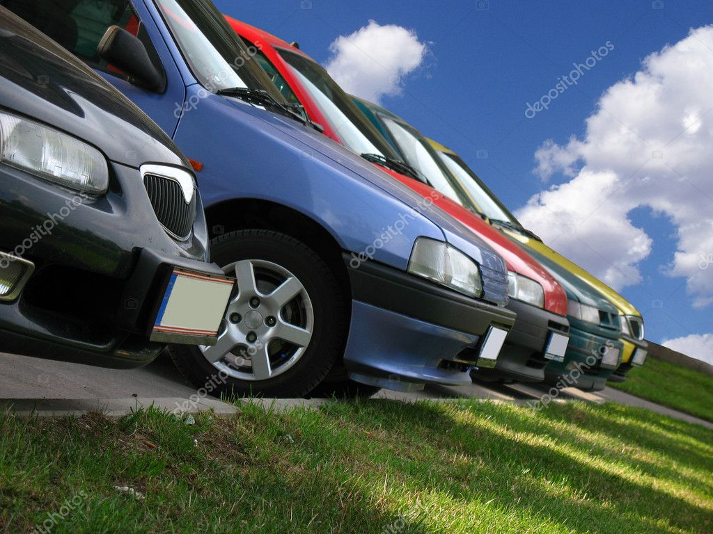 Car in the car park — Stock Photo #10029837