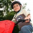 Little biker - Stock Photo