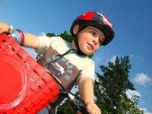 Little biker — Stock Photo