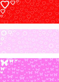 Valentine banners — Stock Photo