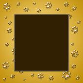 Paw print frame — Stock Photo