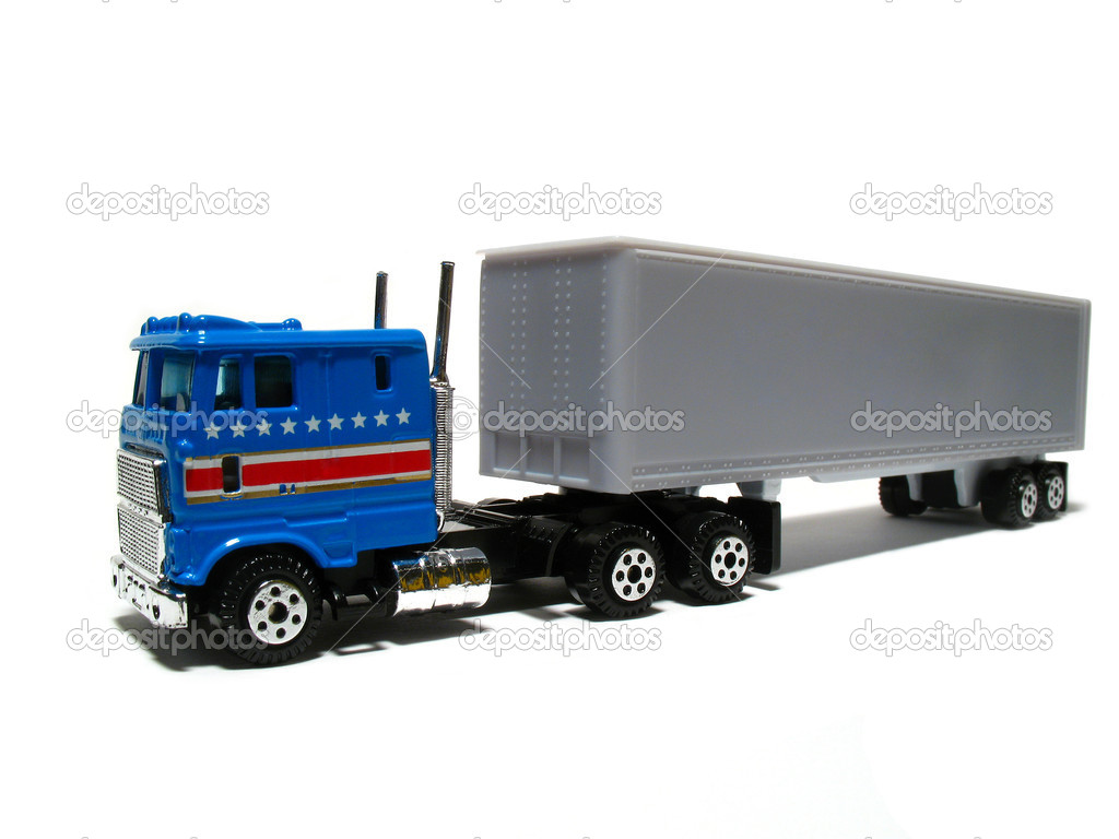 Toy truck on white — Stock Photo #10115004