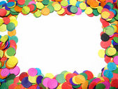 Confetti frame — Stock Photo