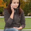 Young woman on the mobile phone — Stock Photo #10151385