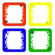 Colored frames — Foto de Stock