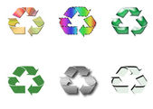 Recycling logos — Stock Photo