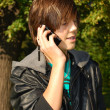 Young man with phone — Stock Photo