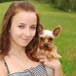 Royalty-Free Stock Photo: Young woman with dog