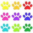 Glossy paw print — Stock Photo #10232971