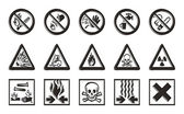 Danger icons — Stock Photo