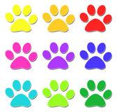 Glossy paw print — Stock Photo