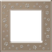 Paw print frame — Stock Photo