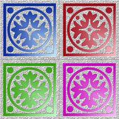 Oriental tiles — Stock Photo