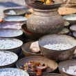 Foto de Stock  : Copper dishes on market