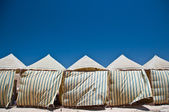 Tents in the desert — Stock Photo