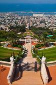 Baha'i Shrine and Gardens in Haifa, Isreal — Stock Photo