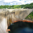 Kariba dam looking from Zimbabwe side to Zambia — Stock Photo