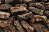 Närbild av torv gräva på harris, skottland — Stockfoto
