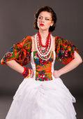 Russian girl fashion — Stock Photo