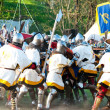 Medieval knights in battle — Stock Photo #10551896
