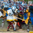 Medieval knights in battle — Stock Photo #10551905