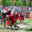 Medieval knights in battle — Stock Photo #10551923