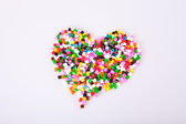 Play beads in the shape of a heart — Stock Photo