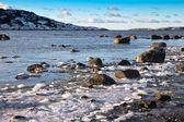 Paisaje marino en invierno — Foto de Stock