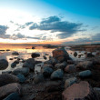 Rocky coast in sweden — Stock Photo