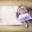 Angel with a postcard - Stock Photo