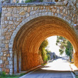 Stone tunnel at mountain road — Stock Photo #10073312